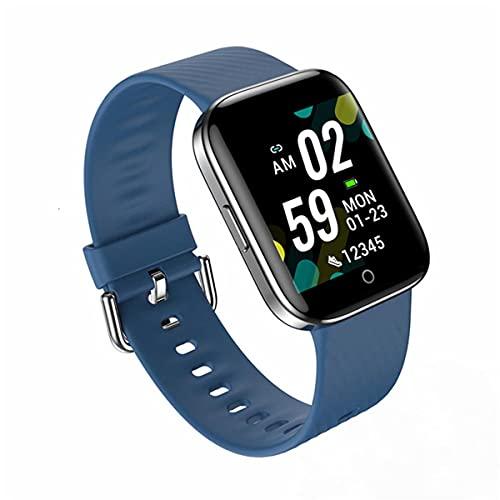 EXEDSCEND Smart Watch, Pantalla táctil Fitness con Monitor de Ritmo cardíaco y saturación de oxígeno en la Sangre, Impermeable IP67 Rastreadores de Actividades para Hombres Mujeres,Azul