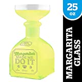 "Bigmouth Inc. Margarita Bottle Glass – Hilarious Glass Holds up to 32 Oz – Glass Shaped Like A Tequila Bottle, Reads, ""Margaritas Made Me Do It"", Make a Great Gift for Margarita Lovers"