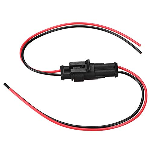 sourcing map HID Cable Conector 2Pines Impermeable Adaptador Enchufe Mazo Cables 300V 10A 4 Conjuntos