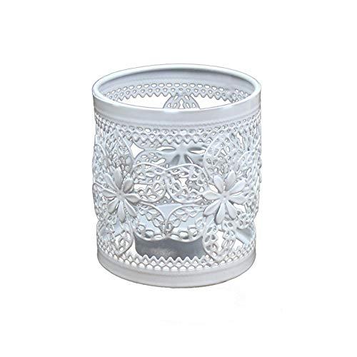 Lubier 1Stück Laternen Einfache schmiedeeiserne Leuchterdekoration Kandelaber Hohle Hängend Kerzenhalter Schöner Schöner Hochzeitsszenenplan Atmosphäre schaffen