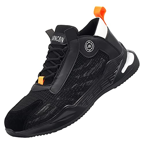 Chaussures de Sécurité pour Homme Femme Acier Protection Antidérapante Anti-Perforation Acier Respirant Chaussures de Travail Légère Chantiers et Industrie Basket