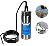 ECO-WORTHY 24V DC Stainless Solar Powered Submersible Water Well Pump 3.2GPM 230'/70m Lift