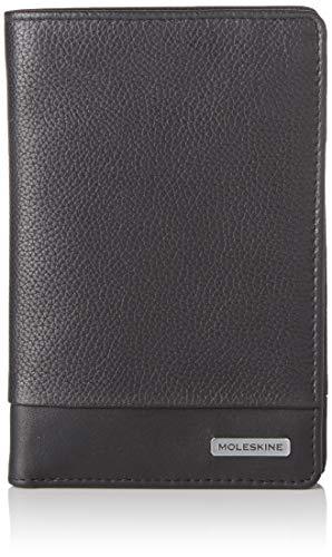 Moleskine - Cartera clásica, 100% Piel con Bolsillo para Monedas y 6 Solapas para Tarjetas de crédito, tamaño 13 x 3.6 x 17 cm, Negro