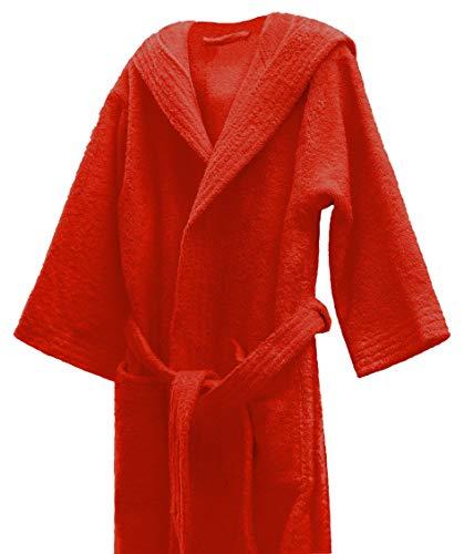 Lasa Albornoz infantil, algodón 100%, Rojo, Talla 6
