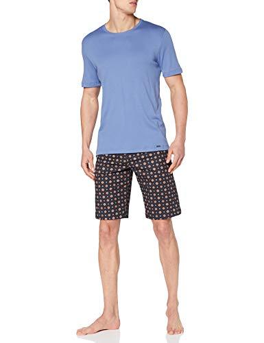 Hanro Mens Pyjama 1/2 Arm Pajama Modern Set, Mini Terrazzo, M