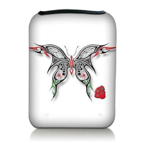Luxburg® Design Tasche Hülle Sleeve für Kindle Paperwhite, Kindle Voyage 6 Zoll / Vision 3 HD / Vision2 / Vision 1 / Shine 2 HD, Pocketbook Touch Lux 3, Motiv: Schmetterling Scherenschnitt