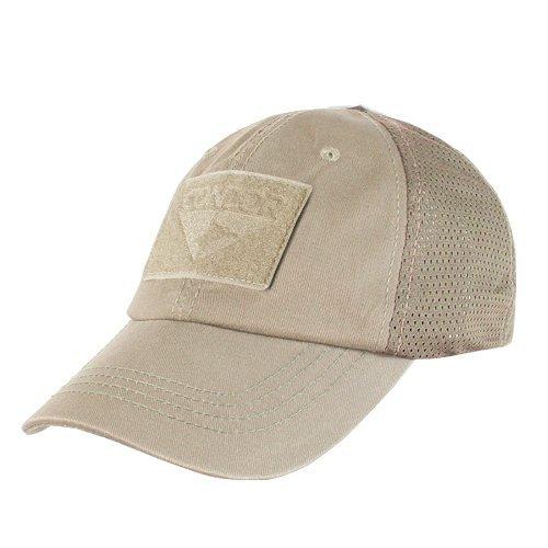 Condor Mesh Tactical Cap (Tan, One Size Fits All)