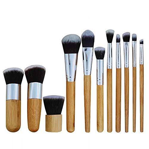 Maquillage Pinceau Ensemble 11 Pinceaux De Maquillage Manche Bambou Outils De Beauté