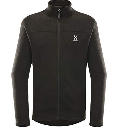 Haglöfs Fleecejacke Herren Fleecejacke Swook Wärmend, Atmungsaktiv, Elastisch True Black XL XL