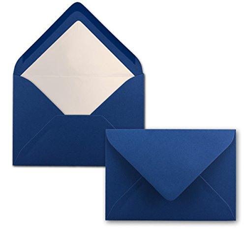 Buste da lettera colorate – DIN C6 – Foderate con carta velina bianca – 80 g/m2 – 114 X 162 mm – Chiusura adesiva – Busta con fodera interna I marca FarbenFroh di Gustav NEUSER 25 pezzi blu notte