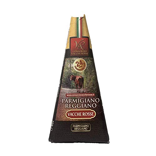 Consorzio Vacche Rosse - Parmigiano Reggiano D.O.P. Vacche Rosse Razza Reggiana - Stagionato oltre 24 mesi - Trancio da 250 g