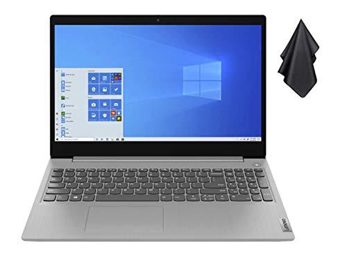 "2021 Newest Lenovo IdeaPad 3 15.6"" FHD Non-Touch Laptop, Intel Dual-Core i3-1005G1 Up to 3.4GHz (Beats i5-7200u), 12GB DDR4 RAM, 256GB PCI-e SSD, Webcam, WiFi 5, HDMI, Windows 10 S + Oydisen Cloth"