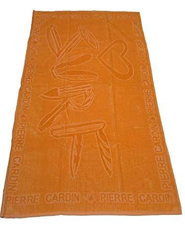 PIERRE CARDIN - Toalla de playa unisex de rizo 100% algodón (Pierre Cardin - Surf azul, 86 x 156 cm)