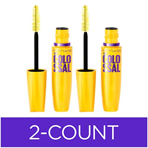 Maybelline Volum' Express The Colossal Washable Mascara, Volumizing, Classic Black (Pack of 2)