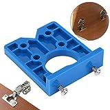 Localizador de perforadora de agujeros de bisagra de 35 mm, plantilla de perforación de puerta, gabinetes para carpintería Accesorio de guía de perforación de plantilla de perforación oculta