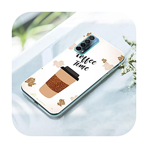 Ok But First Coffee Funda de silicona para Huawei P50 Pro P40 Lite E P30 Pro P10 Plus P20 Lite P Smart Z 2021 Pro 2019 Cover-002-P50 Pro