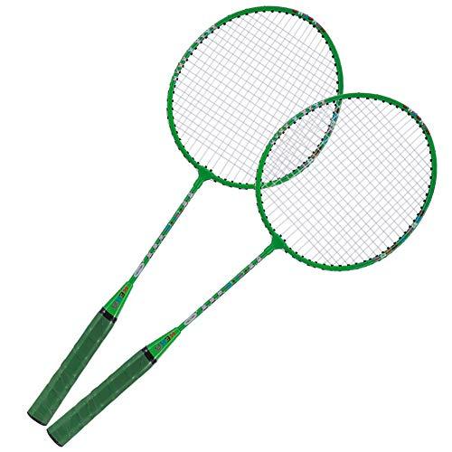 Keenso Cute Design Kinder Badmintonschläger, leicht, für Kinder zum täglichen Sport, Training Badmintonschläger, einschließlich Premium Badminton Tasche(Grün)
