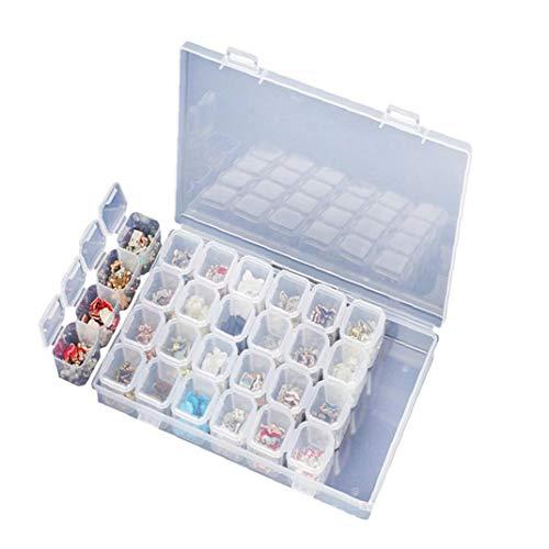 28 Grids Bijoux Intercalaires Boîte Organisateur Réglable En Plastique Transparent Perle Cas Pour Perles De Stockage De Conteneurs Outils De Bijoux Pill Leurres
