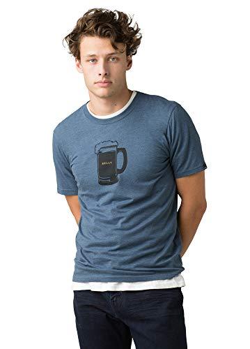 prAna - Men's Journeyman T-Shirt, Beer Belly, Denim Heather, X-Large
