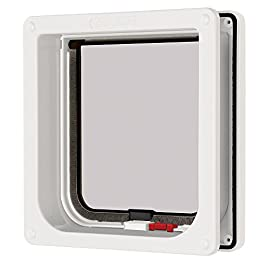 PetMate Cat Mate lockable cat flap with door liner 50mm, white