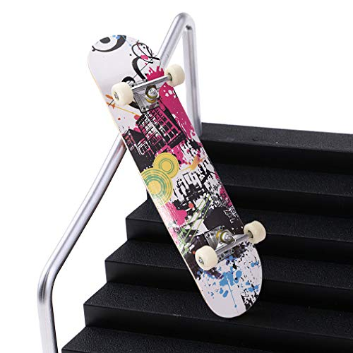 Zyooh Skateboard, Fashion Cool Complete Skateboard 31 x 7.88, 7 Layer Canadian Maple Double Kick Concave Standard and Tricks Skateboards for Kids Beginners High Jump Performance