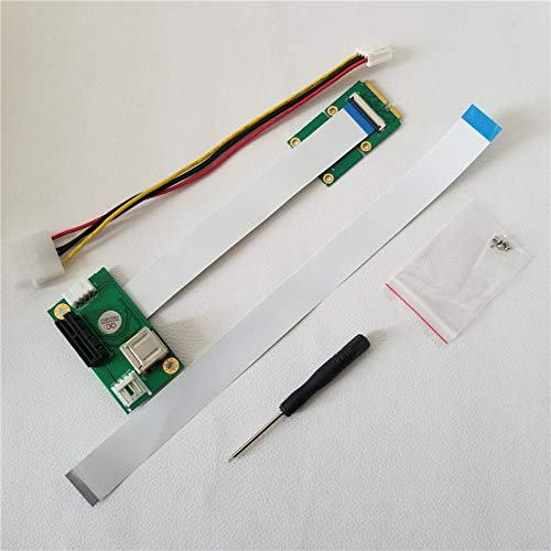 Laptop Mini PCI-E to Desktop PCI-E 1X Adapter Converter Riser Card Ribbon Cable for External GPU Graphics Video Card EXP GDC,Card