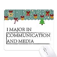 私は、コミュニケーションとメディアにおける主要引用 ゲーム用スライドゴムのマウスパッドクリスマス