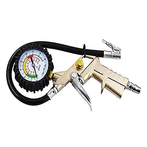 HD STAR Pistola Per Gonfiaggio Pneumatici Manometro Per Pneumatici Pistola Per Rimozione Polvere Pistola Per Soffiaggio Intervallo Di Misurazione Da 0 A 15 Bar/Da 0 A 220 PSI