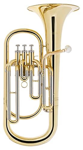 Classic Cantabile BH-1030L Baritonhorn - aus Messing, lackiert - Stimmung: Bb - Durchmesser Schallbecher: 230 mm - Bohrung: 13,4 mm - 3 Pumpventile - inkl. Koffer und Mundstück