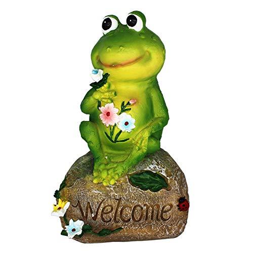 XAUIIO 9 Inch Frog Garden Welcome Statues Sculptures,for Outdoor Patio