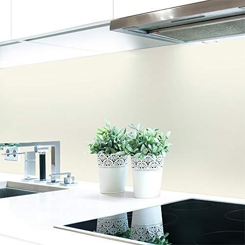 Küchenrückwand Weiß- und Schwarztöne Unifarben Premium Hart-PVC 0,4 mm selbstklebend - Direkt auf die Fliesen, Größe:340 x 60 cm, Ral-Farben:Cremeweiß ~ RAL 9001