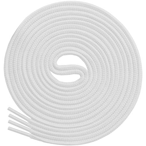 Miscly Cordones Ovalados [3 Pares] Para Todo Tipo de Zapatos y Zapatillas – Diámetro 6 mm (137 cm, Blanco)
