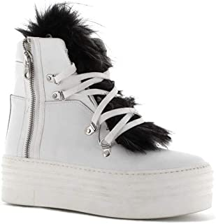 Made in Italy Sneakers in Pelle con Zeppa - Bianco