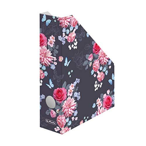 Stehsammler A4 Ladylike Flowers aus Wellpappe, Rückenbreite 7cm, 1 Stück