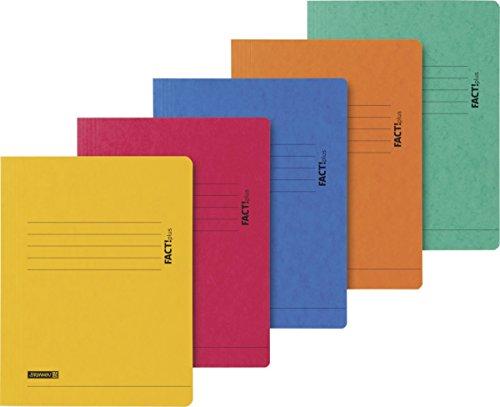 Brunnen 102015395 Jurismappe A4 Fact!plus (Karton, 320 g/m²) 5 Farben sortiert