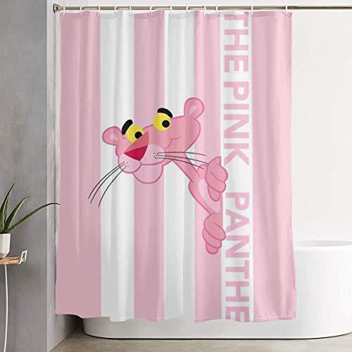 NHUXAYH Duschvorhang The Pink Panther Kunstdruck, Badezimmerdekorationssammlung aus Polyestergewebe mit Haken 60X72 Zoll