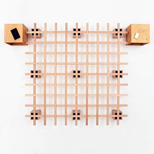 Tojo Bett System Funktionsbett | Futonbett I Gästebett/Studentenbett/Jugendbett | Das Flexible Raumwunder | Unbehandeltes Holzbett ohne Schrauben/Beschläge (180 x 200 cm)