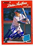 Robin Ventura autographed baseball card (Chicago White Sox SC) 1990 Donruss #28 Rated Rookie Card. rookie card picture