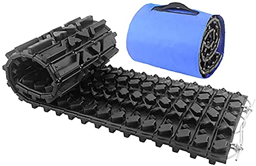 AEGIS light Tire Escaper Traction Mats,Recovery Boards Traction Tracks Mat, Emergency Lightweight Portable Vehicle Recovery Treads for Car, Truck, RV, ATV Roadside Assistance and Off-Road,BlackL