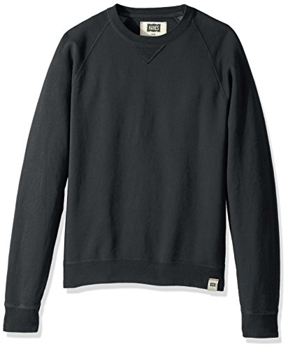 Hanes Men's 1901 V-Notch Raglan Sweatshirt, Dark Screen, Small