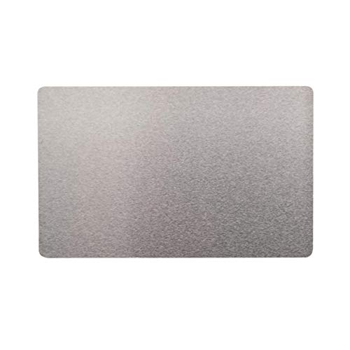 100PCS Business Cards, Metal Business Card, Engraved Metal Smooth Blank Cards, Thermal Transfer Accessories, for Customer DIY Gift Cards