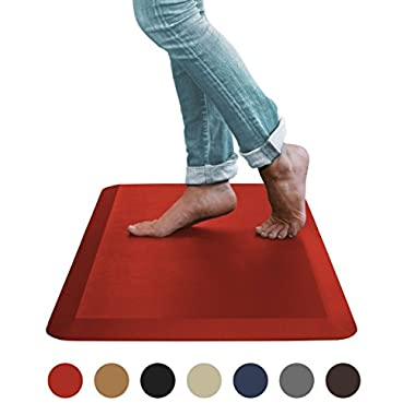 Sky Mat, Comfort Anti Fatigue Mat, Perfect for Kitchens and Standing Desks, 20 x 39 x 3/4  (7 Colors, 3 sizes) (Red)