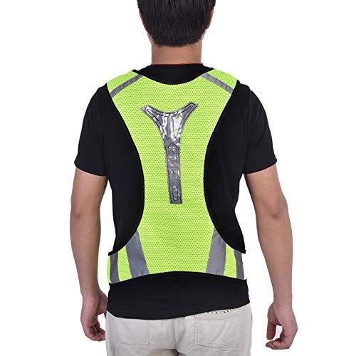 Socobeta Chaleco De Seguridad, Chaleco LED Fluorescente Chaleco Reflectante Reflectante Chaleco para Correr para Corredor Nocturno para Deportes Al Aire Libre