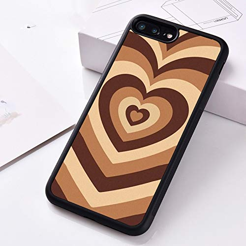 WGOUT Funda de Silicona para teléfono para iPhone 6 6S 7 8 Plus 5 5S SE X XS XR 11 12 Mini Pro MAX Latte Love Coffee Heart, para iPhone 6S