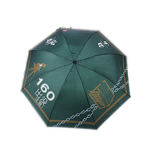 DZNOY Paraguas Plegables sombrilla Paraguas animación impresión Lluvia y Sol Dual propósito Anti-Ultravioleta protección Sol Paraguas sombrilla (Color : B)