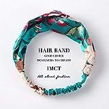 PJC Femmes Cheveux Accessoires pour Bébé Bandeau Tissu Croix Nœud Arc Mousseline de Soie Floral Bande De Cheveux Corée Coiffe Dames Cerceau, TSZ44-11