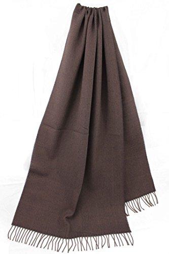 Rotfuchs Foulard écharpe tissée uni chevrons denim à la mode violet 100% laine (mérinos)