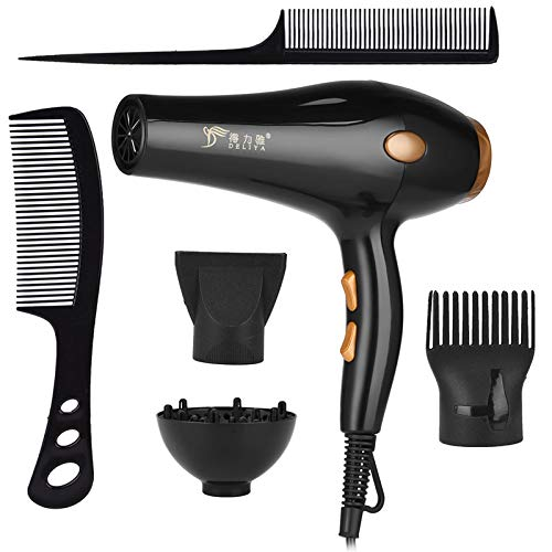 Peigne à air chaud Professional Strong Power Hair Dryer for Hairdressing Barber Salon Tools Blow Dryer Low Hairdryer Hair Blowing Machine with Comb