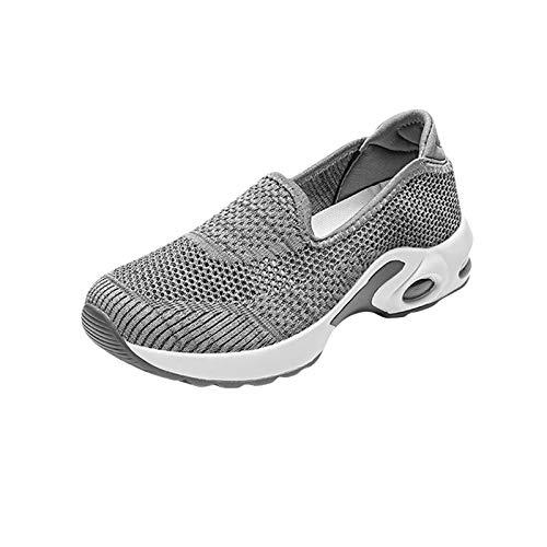 Zapatillas Deportivas de Mujer Gimnasio Zapatos Running Deportivos Fitness Correr Casual Ligero Comodos Respirable 1228