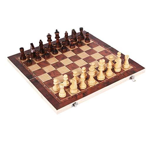 NaisiCore 34 * 34cm 3 en 1 de ajedrez Plegable de Madera...